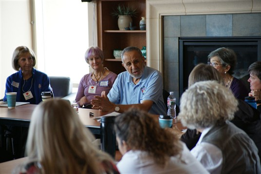 Photo of the Rev. Gil Caldwell leading a workshop at the 2017 Toward an Inclusive Church Conference. Photo by Bill Moore